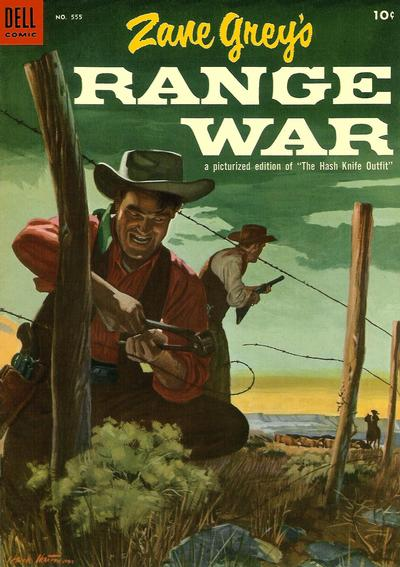 Cover for Four Color (Dell, 1942 series) #555 - Zane Grey's Range War (Hash Knife Outfit)