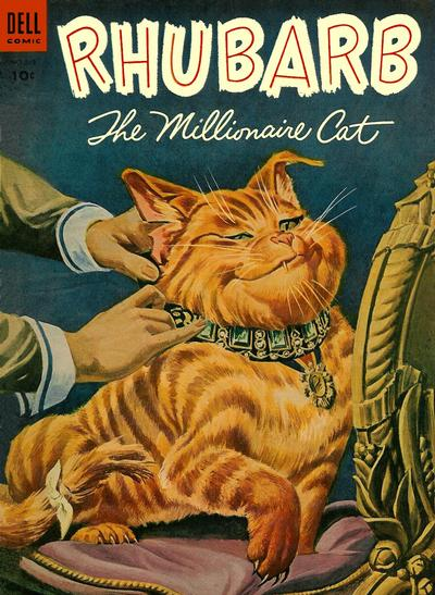 Cover for Four Color (Dell, 1942 series) #563 - Rhubarb, The Millionaire Cat