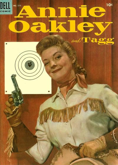 Cover for Four Color (Dell, 1942 series) #575 - Annie Oakley and Tagg