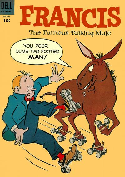 Cover for Four Color (Dell, 1942 series) #579 - Francis, The Famous Talking Mule