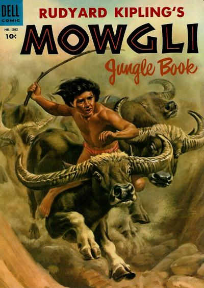 Cover for Four Color (Dell, 1942 series) #582 - Rudyard Kipling's Mowgli Jungle Book