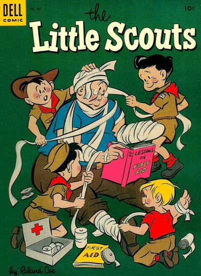 Cover for Four Color (Dell, 1942 series) #587 - The Little Scouts