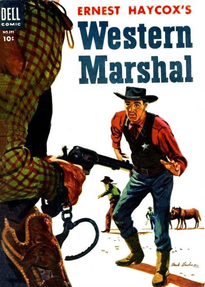 Cover for Four Color (Dell, 1942 series) #591 - Ernest Haycox's Western Marshall