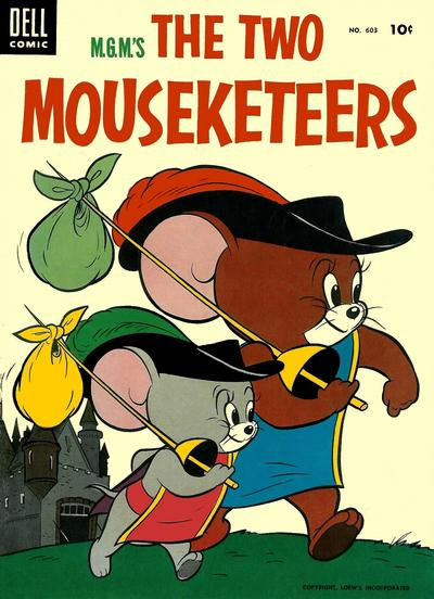 Cover for Four Color (Dell, 1942 series) #603 - M.G.M's The Two Mouseketeers