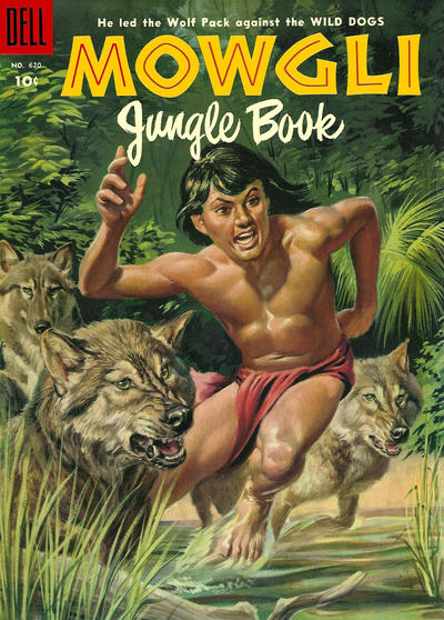 Cover for Four Color (Dell, 1942 series) #620 - Rudyard Kipling's Mowgli Jungle Book