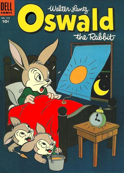 Cover for Four Color (Dell, 1942 series) #623 - Walter Lantz Oswald the Rabbit