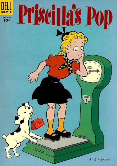 Cover for Four Color (Dell, 1942 series) #630 - Priscilla's Pop
