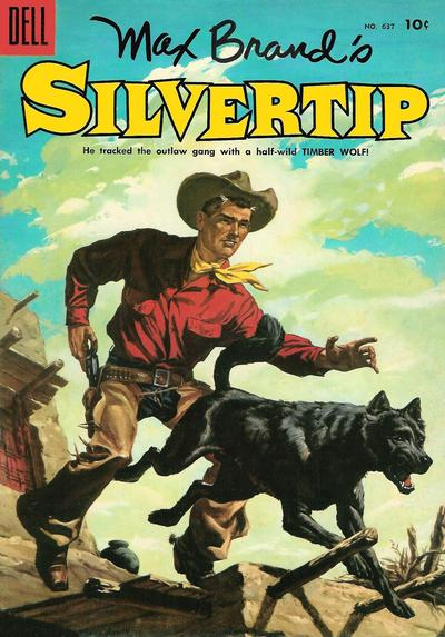Cover for Four Color (Dell, 1942 series) #637 - Max Brand's Silvertip