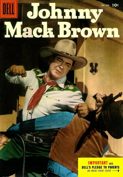 Cover for Four Color (Dell, 1942 series) #645 - Johnny Mack Brown