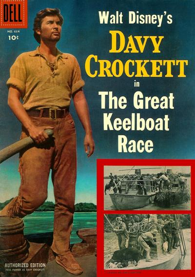Cover for Four Color (Dell, 1942 series) #664 - Walt Disney's Davy Crockett in The Great Keelboat Race
