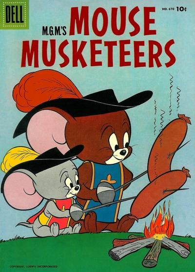 Cover for Four Color (Dell, 1942 series) #670 - M.G.M.'s Mouse Mouseketeers