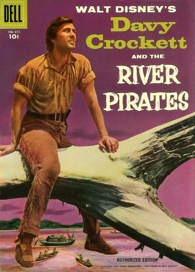 Cover for Four Color (Dell, 1942 series) #671 - Walt Disney's Davy Crockett and the River Pirates