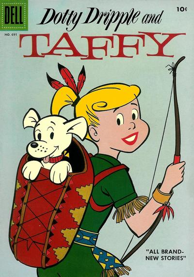 Cover for Four Color (Dell, 1942 series) #691 - Dotty Dripple and Taffy