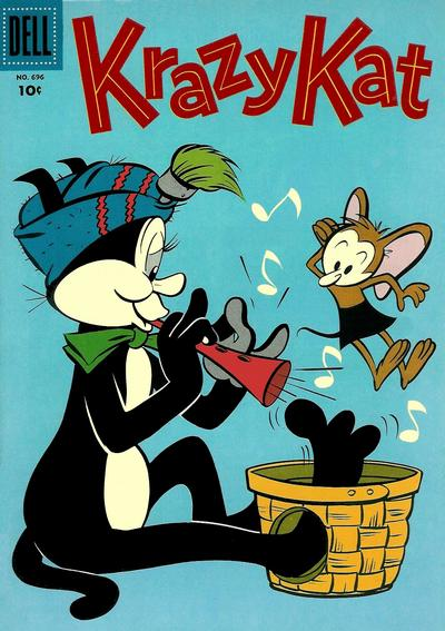 Cover for Four Color (Dell, 1942 series) #696 - Krazy Kat