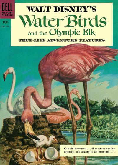 Cover for Four Color (Dell, 1942 series) #700 - Walt Disney's Water Birds and the Olympic Elk