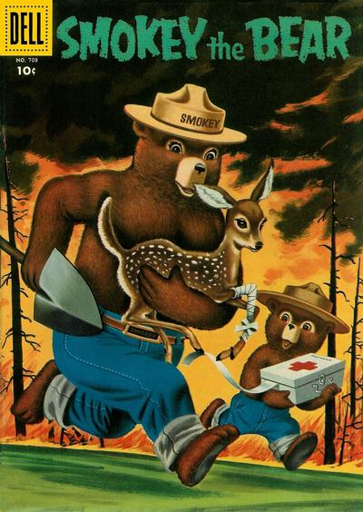 Cover for Four Color (Dell, 1942 series) #708 - Smokey the Bear