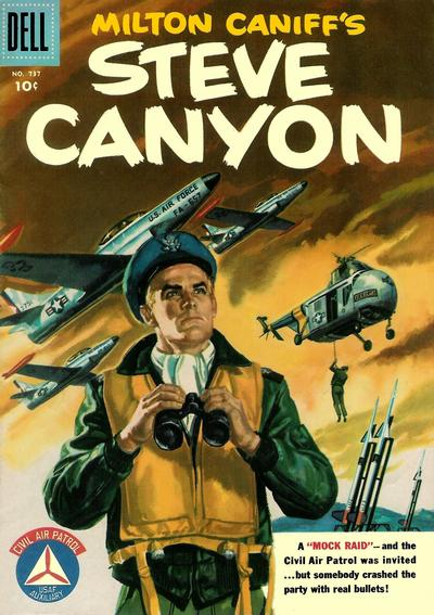Cover for Four Color (Dell, 1942 series) #737 - Milton Caniff's Steve Canyon