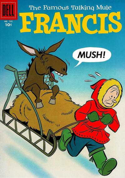 Cover for Four Color (Dell, 1942 series) #745 - Francis, The Famous Talking Mule