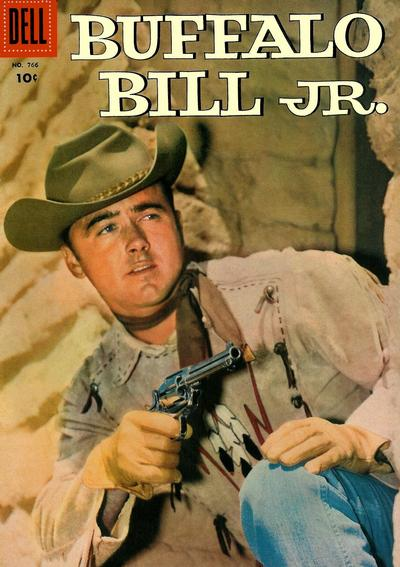 Cover for Four Color (Dell, 1942 series) #766 - Buffalo Bill, Jr.