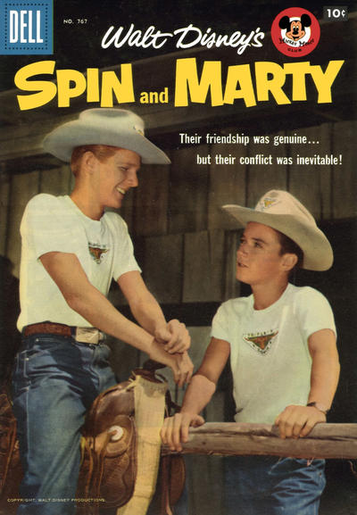 Cover for Four Color (Dell, 1942 series) #767 - Walt Disney's Spin and Marty [Price variant]