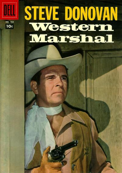 Cover for Four Color (Dell, 1942 series) #768 - Steve Donovan Western Marshal [Price variant]