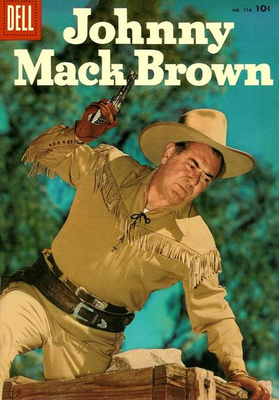 Cover for Four Color (Dell, 1942 series) #776 - Johnny Mack Brown [Price variant]