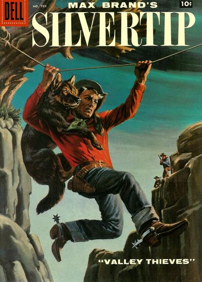 Cover for Four Color (Dell, 1942 series) #789 - Max Brand's Silvertip Valley Thieves [Price variant]