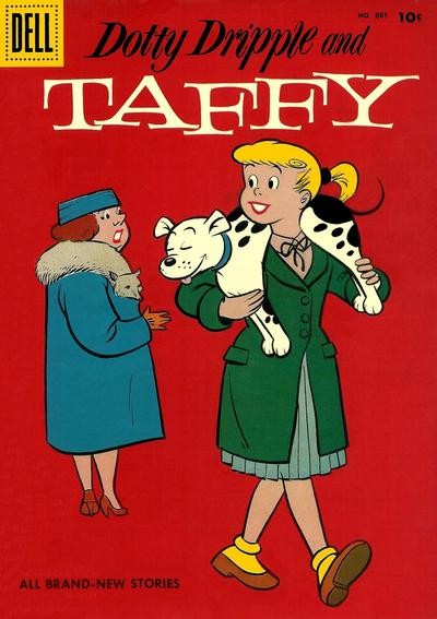 Cover for Four Color (Dell, 1942 series) #801 - Dotty Dripple and Taffy