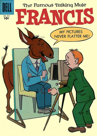 Cover for Four Color (Dell, 1942 series) #810 - Francis, the Famous Talking Mule