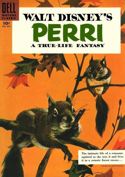 Cover for Four Color (Dell, 1942 series) #847 - Walt Disney's Perri [15¢]