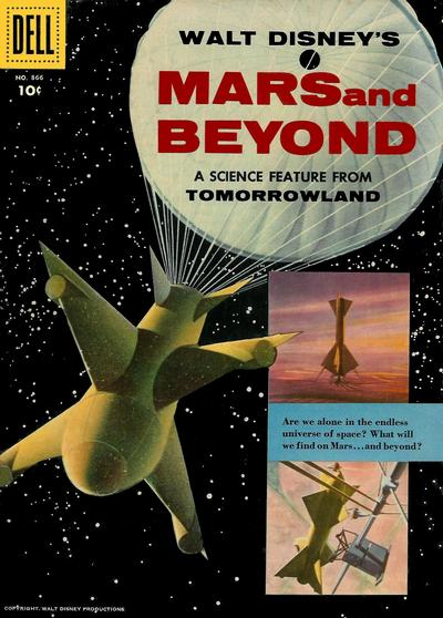 Cover for Four Color (Dell, 1942 series) #866 - Walt Disney's Mars and Beyond