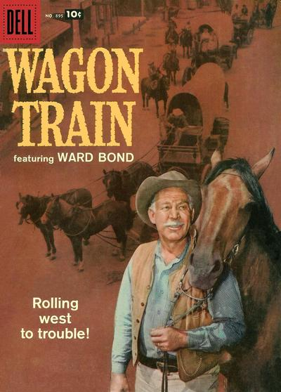Cover for Four Color (Dell, 1942 series) #895 - Wagon Train
