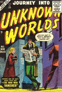 Cover for Journey into Unknown Worlds (Marvel, 1951 series) #34