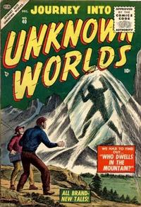Cover Thumbnail for Journey into Unknown Worlds (Marvel, 1951 series) #40