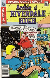Cover Thumbnail for Archie at Riverdale High (Archie, 1972 series) #77