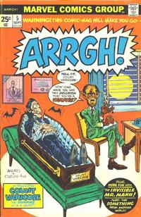 Cover Thumbnail for Arrgh! (Marvel, 1974 series) #5