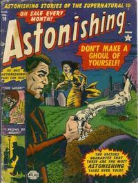 Cover Thumbnail for Astonishing (Marvel, 1951 series) #16