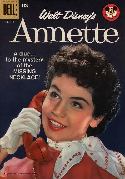 Cover for Four Color (Dell, 1942 series) #905 - Walt Disney's Annette