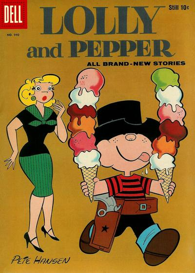 Cover for Four Color (Dell, 1942 series) #940 - Lolly and Pepper