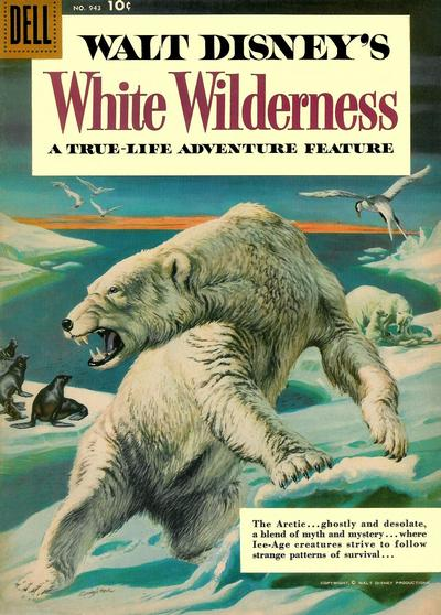 Cover for Four Color (Dell, 1942 series) #943 - Walt Disney's White Wilderness