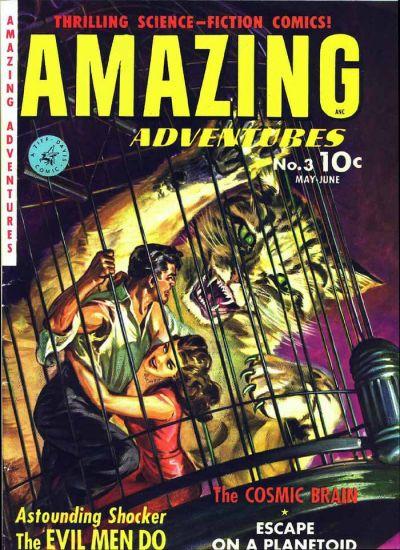 Cover for Amazing Adventures (Ziff-Davis, 1950 series) #3