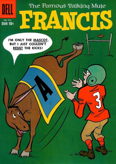 Cover for Four Color (Dell, 1942 series) #953 - Francis, The Famous Talking Mule