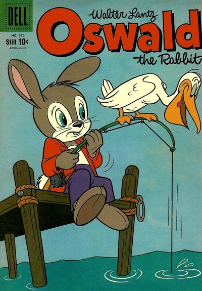 Cover for Four Color (Dell, 1942 series) #979 - Walter Lantz Oswald the Rabbit