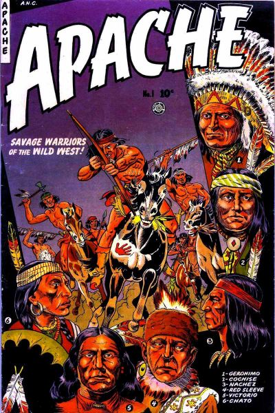 Cover for Apache (Fiction House, 1951 series) #1