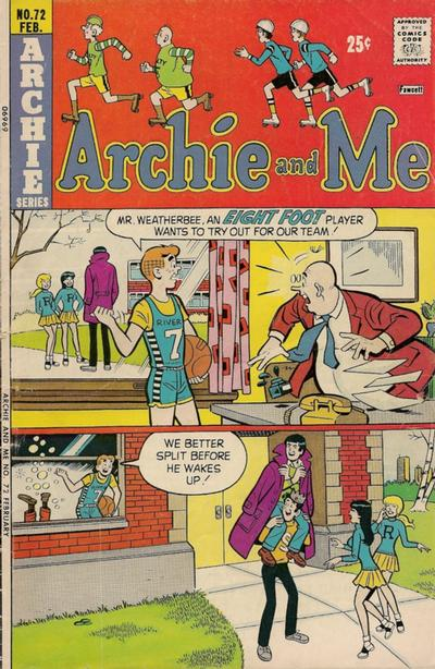 Cover for Archie and Me (Archie, 1964 series) #72