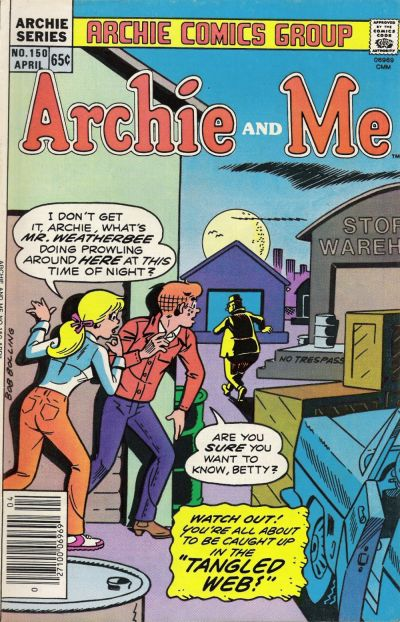 Cover for Archie and Me (Archie, 1964 series) #150
