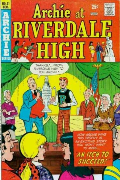Cover for Archie at Riverdale High (Archie, 1972 series) #21