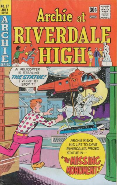 Cover for Archie at Riverdale High (Archie, 1972 series) #37