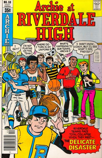 Cover for Archie at Riverdale High (Archie, 1972 series) #59
