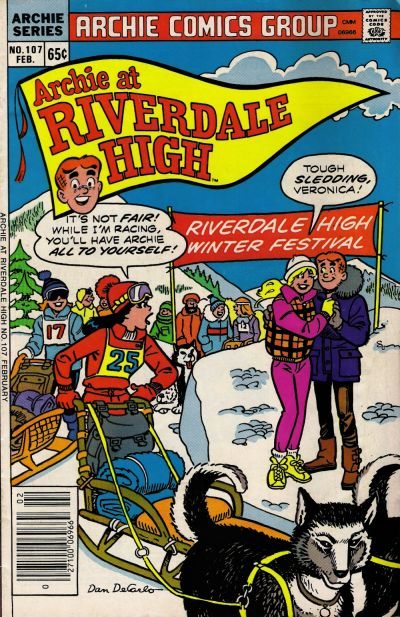 Cover for Archie at Riverdale High (Archie, 1972 series) #107